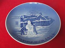 1954 BING GRONDAHL COPENHAGEN PLATE SNOWMAN CHILDREN