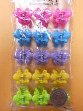 pink blue green Neon color Plastic TINY MINI BUTTERFLY JAW girl CLIPS BRIGHT