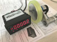 HQ 0.1yd Resolution Photoelectric Length Meter Kits Grating Counter 12'' Wheel