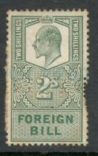 Edward VII - 2s - Green - Foreign Bill - Perfins - HUTH