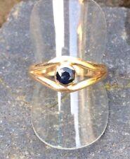 Ring mit Saphir Gold 585 massiv 4,35g 14K Größe 18,5 mm - 58 (386)