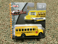 1:80 Scale Fresh Metal, City Service School District #2 Bus, by Maisto