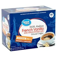 Great Value  French Vanilla Medium Roast, 96 k cups  Count EXp Below