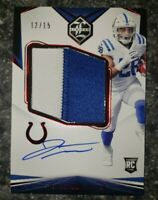 2020 Panini Limited RC Jonathan Taylor Ruby Auto Variation Jersey Patch /15 RPA