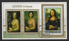 Ajman State 1970 Paintings S/S CTO (27)