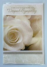Sympathy Condolence Card Bereavement - In The Loss of Your Wife Deepest Sympathy