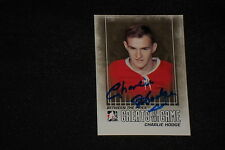 CHARLIE HODGE 2010 IN THE GAME SIGNED AUTOGRAPHED CARD #116 CANADIENS