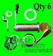 Lot of 6 National CompX Key Cam Lock Cabinet 1 3/4 Length Keyed Alike Chrome
