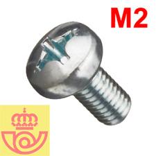 (lote 20pcs) Tornillo acero M2 5mm cabeza Philips (Arduino, prototipos, PCB)