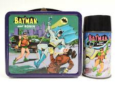 Original BATMAN AND ROBIN 1966 Metal Lunch Box + Thermos Vintage
