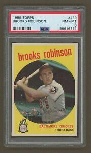 "1959 Topps Baseball #439 BROOKS ROBINSON PSA 8 NM-MT ""NEW TO THE HOBBY"""