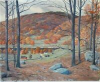 LISTED MAURICE BRAUN 1877-1941 CALIFORNIA , NEW YORK  LANDSCAPE  OIL PAINTING