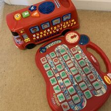 Vtech Toy Bundle Bus And Alphabet Desk Educational Tablet Clock