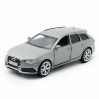 1:36 Audi RS 6 Avant Model Car Diecast Toy Pull Back Grey Doors Open Kids Gift