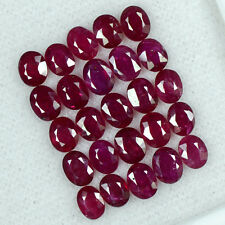 10.67 Cts Natural Pigeon Blood Red Ruby Oval Cut Lot Burma 5x4 mm Whole Sale Gem