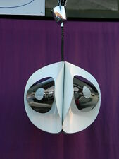 LAMPADARIO IN METALLO ANNI '70 VINTAGE DESIGN UFO SPACE AGE PENDANT LAMP #B779