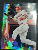 2020 Topps Chrome Mike Trout Prism Refractor + Base Los Angeles Angels MVP