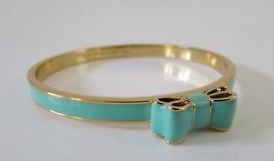 Kate Spade New York Take a Bow Enamel Bracelet Aqua Green