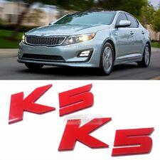 Side Front Trunk Mini Emblem Point Logo Badge Red for KIA 2011 - 2015 K5 Optima