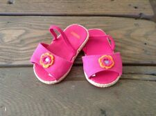 Gymboree Infant Girl Canvas Sandals. Pink. Size 2. Pre-Owned