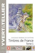 Catalogue TOME 1 FRANCE 2017 YVERT + 1 Pochette 100 Timbres de France oblitérés