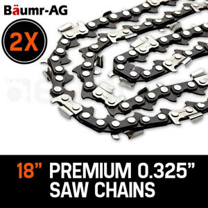 "2 X 18""  BAUMR-AG CHAINSAW CHAIN 18in Bar Replacement Suits SX45 45cc Saws"