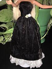 Black Velvet Barbie Gown