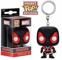 Funko Pop! Deadpool Black Suit Marvel Comics Vinyl Figure Pocket Keychain