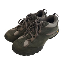 Vasque Womens Size 10M Low Hiking Shoes Mantra 2.0 Leather Vibram Sole Olive Grn