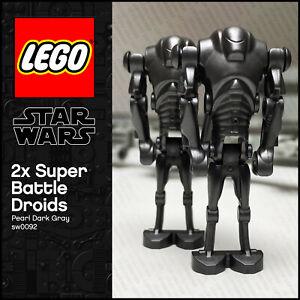 GENUINE LEGO Star Wars Minifigure 2 x Super Battle Droids sw0092 ARMY BUILDER