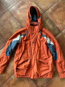 Helly Hansen Ski Jacket Mens L Orange And Gray