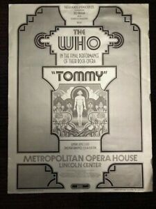 The WHO - Tommy final performance concert poster NYC 1970 David Byrd