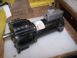 """DAYTON DC GEAR MOTOR 1/8 HP 4Z129A 90VDC RPM 54 5/8"""" SHAFT TESTED WORKING"""