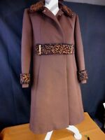 60's Vintage Coat Brown YouthCraft Union Made Size apx Med Lge  Needs TLC