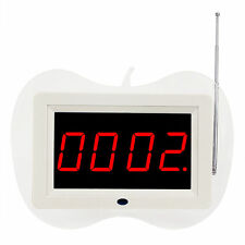 433MHz Wireless Waiter Call Paging System Receiver Host w/ Voice Broadcast+Track