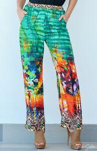 Silk Satin Plazzo Pant with Embellishment, resort wear kaftan style pant