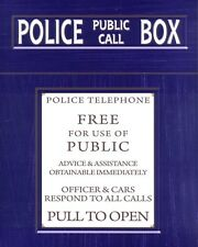 "10"" x 8"" POLICE TELEPHONE PHONE BOX DOCTOR WHO TARDIS METAL PLAQUE TIN SIGN N463"