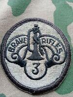 Army Abzeichen 3 Armored Cavalry Regiment gebraucht für die Woodland BDU Uniform