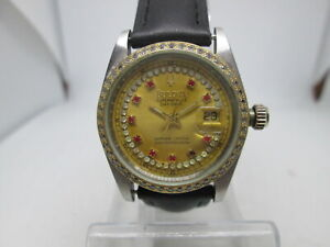 BULOVA SUPER SEVILLE DATE 18KGP/STAINLESS STEEL AUTOMATIC LADIES WATCH