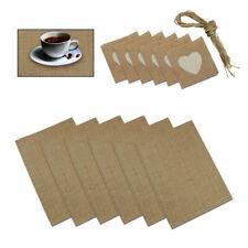 12x Rustic Linen Burlap Coasters Table Mats Placemat Tea Coffee Cup Mat Coaster
