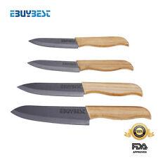 "Bamboo Handle ceramic knife set kitchen knives 3"" 4"" 5"" 6"" Paring Chef knives BL"