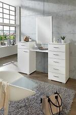 Schminktisch - Frisiertisch - Kosmetiktisch in weiß mit Spiegel 4tlg.