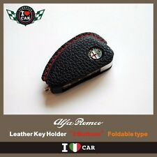 Alfa Romeo 156, 147 Leather Key Holder- Foldable type (3 BUTTONS)