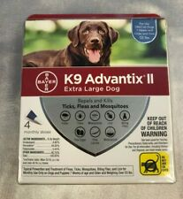 Bayer K9 Advantix II for Extra Large Dogs Over 55lbs (4 Pack Box)