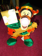 "NEW THE DISNEY STORE RENAISSANCE TIGGER BEANBAG 9"" PLUSH SOFT TOY FREE UK P&P"