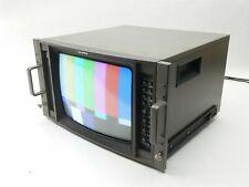 """Vintage Ikegami TM14-16R 14"""" CRT Color Broadcast DIsplay Monitor System"""