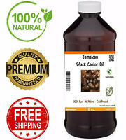 Jamaican Black Castor Oil For Hair Growth 16 oz - PREMIUM 100% Pure Cold Pressed