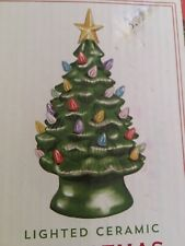 10� Artificial Christmas Tree Ceramic Tabletop Approx 50 Multicolored Lights Pl