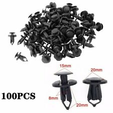 100Pcs 8mm Plastic Hole Dia Rivets Fastener Push Pin Clips Fender Bumper for Car
