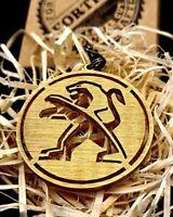 Peugeot keychain - Brass | Titanium | Steel | Blued (handmade, birthday gift)
